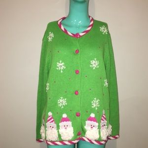Heirloom Collectibles Santa Ugly Christmas Sweater